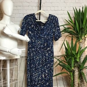 Connected Apparel Size 10 Womens Dress Blue